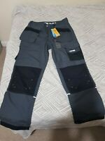 JCB Trousers. Trade Pluse Rip Stop .Grey/Black