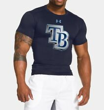 Tampa Bay Rays Under Armour Short Sleeve Compression Shirt 1264750 MLB LARGE   L