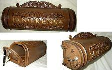 Buzon rustico modelo pan y prensa, hecho en hierro fundido