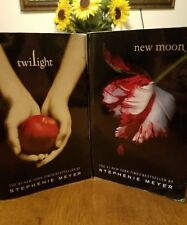 Twilight and New Moon - Paperback Novels by Stephenie Meyer.  Set of 2!