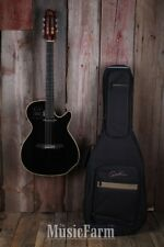 Godin Multiac Spectrum SA Acoustic Electric Guitar High Gloss Black with Gig Bag