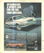 """(RST15) POSTER/ADVERT 13X11""""THE FORD MUSTANG 2 & 3 DOOR"""