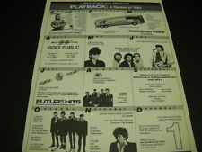 Westwood One 1984 promo poster ad Beatles Bob Dylan Pretenders Duran Duran other