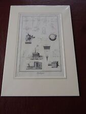 OPTICIAN OPTICAL  amazing mounted 1700s engraving equipment et  GIFT POTENTIAL