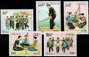 Laos MiNr. 1276-1280 postfrisch - Traditionelle Feste Folklore