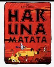 Disney The Lion King Hakuna Matata Soft Cozy Fleece Throw Blanket Bedding