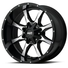22 Inch Black Wheels Rims LIFTED Moto Metal MO970 MO97022087318N 22x10 8x170 Lug