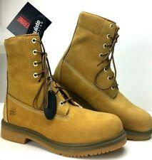 "Wolverine Waterproof 8"" Steel Toe Gold Work Boots 10 Medium NEW in Box"