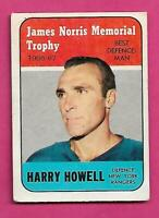 1967-68 TOPPS # 119 RANGERS HARRY HOWELL TROPHY  GOOD CARD (INV# C7273)