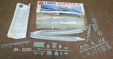 Airfix H.M.S. Suffolk Model Kit with Instructions (NOS)