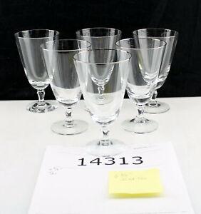 """Fostoria Engagement Platinum Trim 1960s 6.5"""" Ice Tea Glasses or Wine Stems"""
