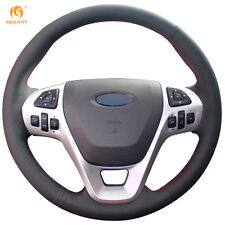 Black Leather Wheel Cover for Ford Explorer 2011-2016 Taurus 2012-2015 Edge