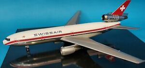WB Models 1:200 Douglas DC-10-30 Swissair HB-IHE with stand Ref: B-DC10-30-01P