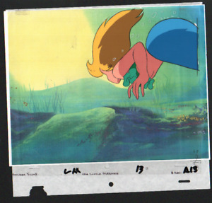 GOLDEN FILMS ARIEL LITTLE MERMAID HAND PAINTED CEL ANIMATION WITH DRAWING