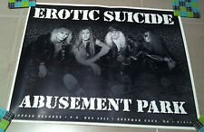 "EROTIC SUICIDE ""Abusement Park"" B/W Band PROMO POSTER VINTAGE 1994 USA Glam RARE"