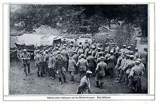 Estampida nuestra campo gris en la marca carro de subasta 1914 * WW 1