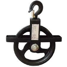 Seilrad für Seile bis 22 mm mit Hakensicherung, Baurolle Umlenkrolle Seilrolle