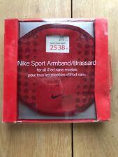 Nuevo viejo stock Brazalete Deportivo Nike Roja/Brassard para todos los modelos de iPod Nano.