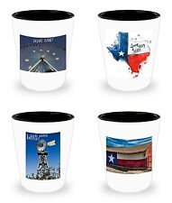 NIB SET of 4! Texas Funny Shot Glasses Celebration Tequila Shots Game Gift