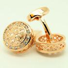 Rose Gold with Stones Wedding Cufflinks