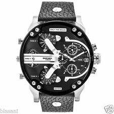 Diesel Original DZ7313 Mr Daddy 2.0 Black Leather Strap Chronograph Watch
