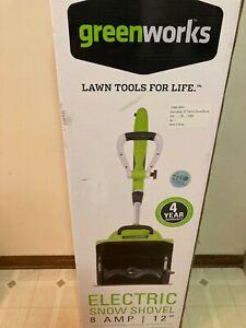 Greenworks 8 Amp 12 inch Electric Snow Shovel
