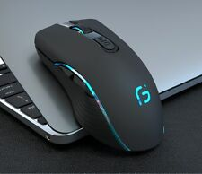 Wireless Mouse Bluetooth 4.0 + 2.4Ghz Rechargeable 2400DPI Ergonomic Dual Mode