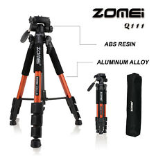 ZOMEI Q111 tragbare leicht Kompaktkamera Pro 140CM mit Stativ und Pan Head Orang