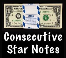 2003 New York 1$ Consecutive Star Notes From BEP Strap Replacement Notes UNC B1