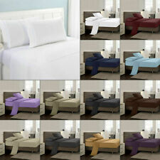 1000 COUNT EGYPTIAN COTTON 4-PC BED SHEET SET SOLID COLORS & SIZES