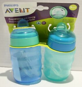 Philips Avent My Easy Sippy Cup Flexible Spout 9oz 9m+ Blue/Green 2pk