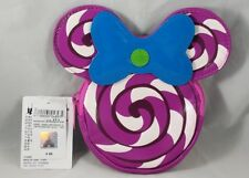 Disney Parks Minnie Mouse Coin Purse Candy Swirl Peppermint Bow Shanghai NEW