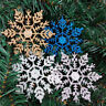 12Pcs New Glitter Snowflake Christmas Ornaments Xmas Tree Hanging Decoration Hot