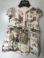 01f0a70774c4 Roberto Cavalli 18M Girl's Dress Leopard Silk Sea Shell Print Kids Designer