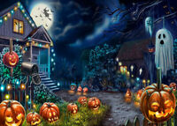 1000pcs Halloween Jigsaw Haunted House Pumpkin Puzzle Adult Kid Educational Toys