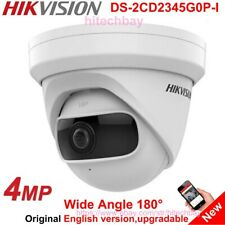Hikvision 180° Super Wide-Angle DS-2CD2345G0P-I 4MP IP Camera H.265+ WDR IR PoE