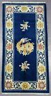 Antique Hand Made Chinese Dragon Peking Tibetan Art Deco Wool Rug 136x70cm