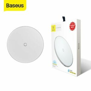 Baseus 10W Qi Wireless Charger Pad Dock for iPhone 12 Mini Samsung S9 White