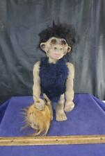 Vintage Nodder Caveman w/ Lady Head Troll Heico Bobblehead Headhunter Figure !