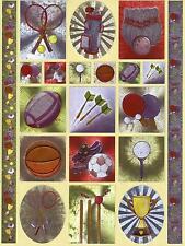 DUFEX metallgravierter Stickerbogen Sticker Sport Tennis Dart Kegeln (11