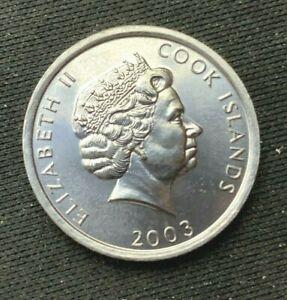2003 Cook Islands 1 Cent Coin BU    World Coin  Aluminum   #K1215