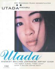 "(HFBK73) POSTER/ADVERT 13x11"" UTADA HIKARU : FIRST LOVE ALBUM"