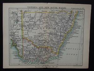 Antique Map: Victoria & New South Wales by John Bartholomew, Pocket Atlas, 1890