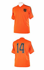 HOLLAND NETHERLANDS 1974 STYLE CRUYFF NO.14 FOOTBALL SHIRT SMALL S