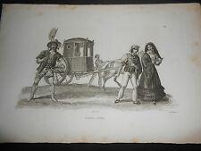 1837 AUDOT INCISIONE SU ACCIAIO COSTUMI DI MALTA VALLETTA II-BELT ROUARGUE