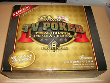FREE SHIP NIB Deluxe TV POKER Texas Hold'em Blackjack Video Poker Game 6 Player