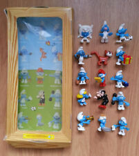 *RARE* SCHTROUMPF SMURF COLLECTION ALBERT HEIJN SET COMPLET 15 Figurines + BOITE