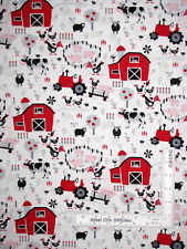 Farm Barn Animals Tractor Scenic Cotton Fabric Timeless Treasures C6692 by Yard
