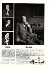 Vintage 1967 Garrard SL 95 Synchro-Lab Original Print Ad w/Frank Sinatra