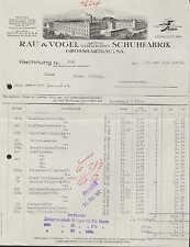 GROSSHARTHAU, Rechnung 1932, Schuh-Fabrik Rau & Vogel AG